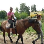 Niczym panicz odbywam codzienną przejażdżkę konną